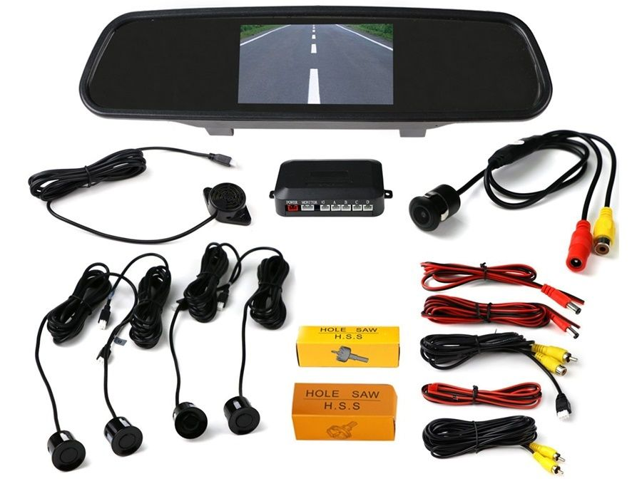LCD Monitor Car Reverse Rear View Mirror with Sensors